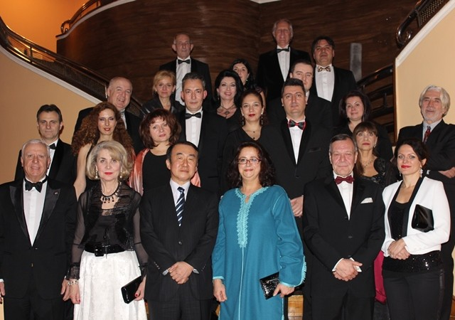 Gala dinner of the Empire of the Rising Sun
